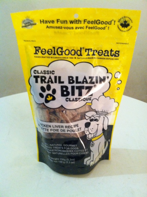 Feelgood Treat Company's Chicken Flavored Trail Blazin' Bitz