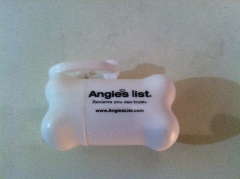 Angie's List Dog Waste Bag Holder