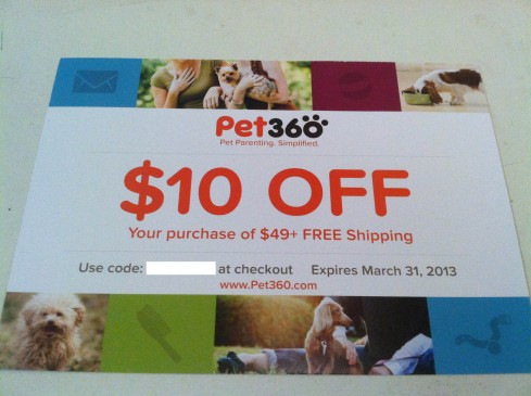 Pet360 $10 Off Coupon