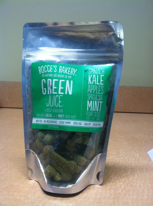 Bocce's Bakery's Green Juice Treats